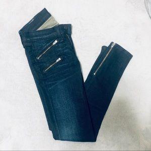 rag & bone/JEAN - Zip Detail Skinny Jeans
